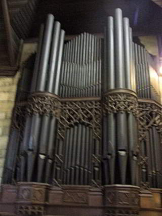 All Saints' organ pipes