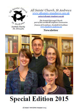 Newsletter cover featuring the Coles family