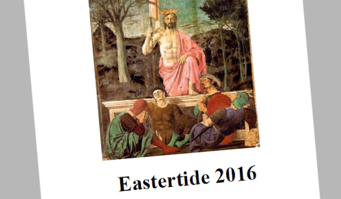 Newsletter Easter 2016