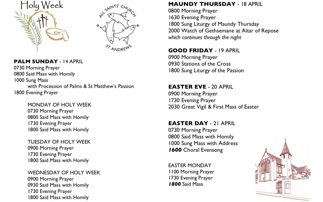 Holy Week Services at All Saints'